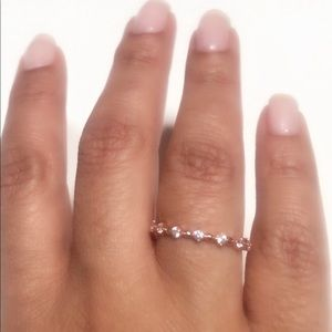 Rose Gold Plated Over 925 Sterling Silver